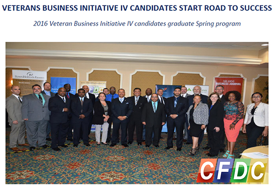 CFDC 2016 Veteran Business Initiative IV candidates graduate Spring program